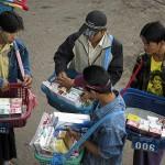 Cigarettes sellers in Tachileik