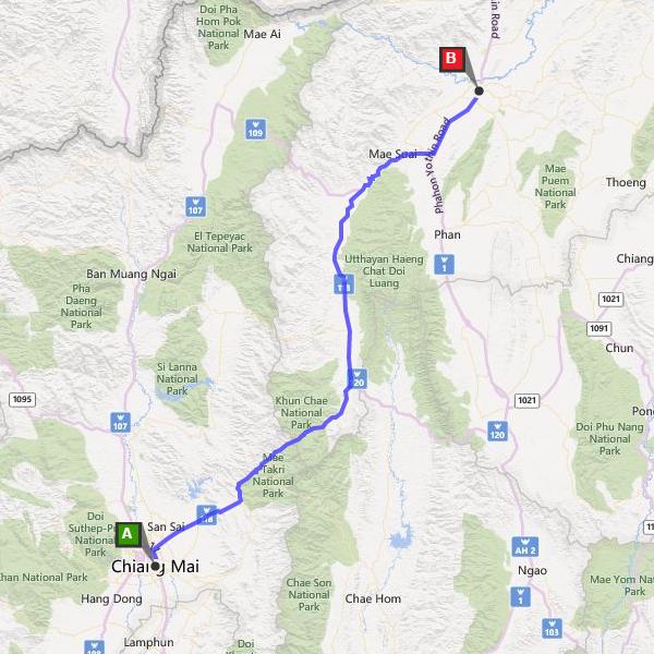 Hire Car Chiang Mai To Chiang Rai